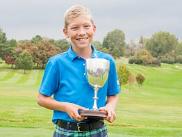 Kyle Miller taunton & pickeridge 36 hole gross junior club champion 2017