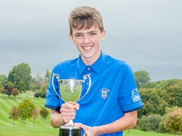 Charlie Hooper taunton & pickeridge 36 hole nett junior club champion 2017