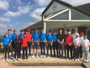 27 of the Somerset Junior golfers to play for the Somerset county championship over 36 holes at T&P