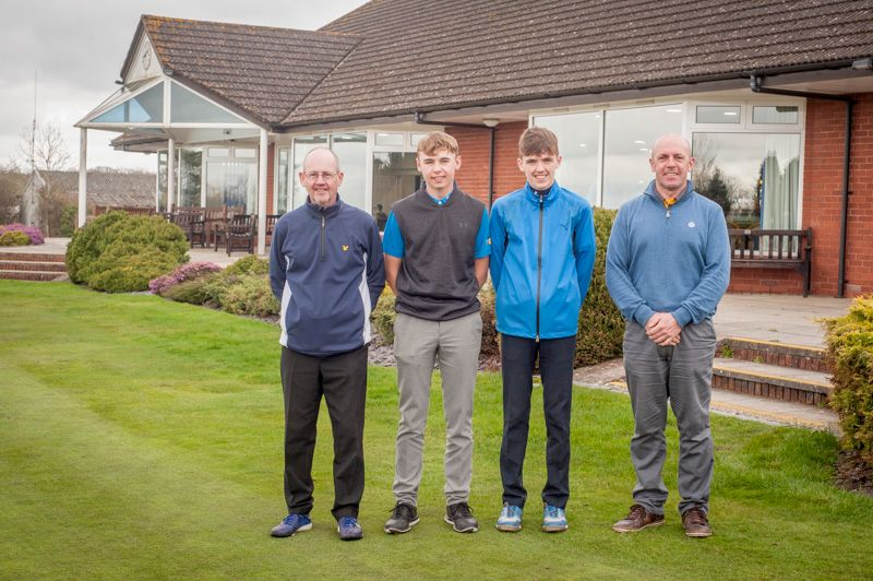 Putting competition on the Junior captains scramble day Saturday 7th April 2018